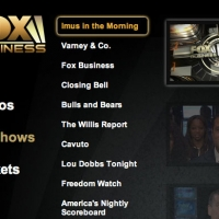 Fox Business TV Show Navigation