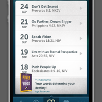 JOM iPhone App Devotionals Page
