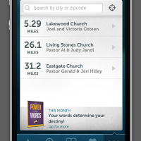 JOM iPhone App Find a Church Page