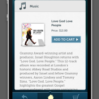 JOM iPhone App Single Music Page