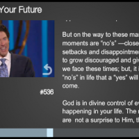 Joel Osteen Video Player Info Panel
